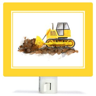 Oopsy Daisy Construction Vehicles - Bulldozer by Brett Blumenthal Night Light