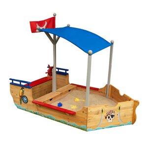 Pirate 6' Rectangular Sandbox