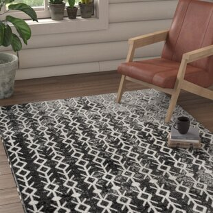 Best Cheesman Black/White Area Rug By Union Rustic