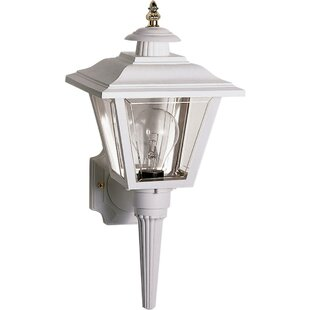 Reviews Halliday Outdoor 1-Light Aluminum Shade Lantern Head By Breakwater Bay