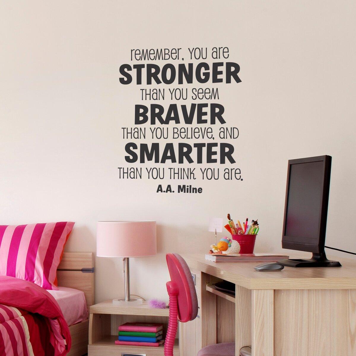 Belvedere Designs LLC Whimsical Stronger Braver Smarter Wall ...