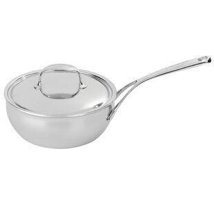 Atlantis 7-Ply Stainless Steel Saucier with Lid
