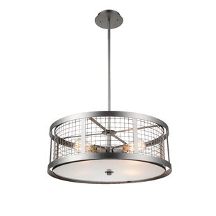 CWI Lighting Manito 4-Light Drum Chandelier