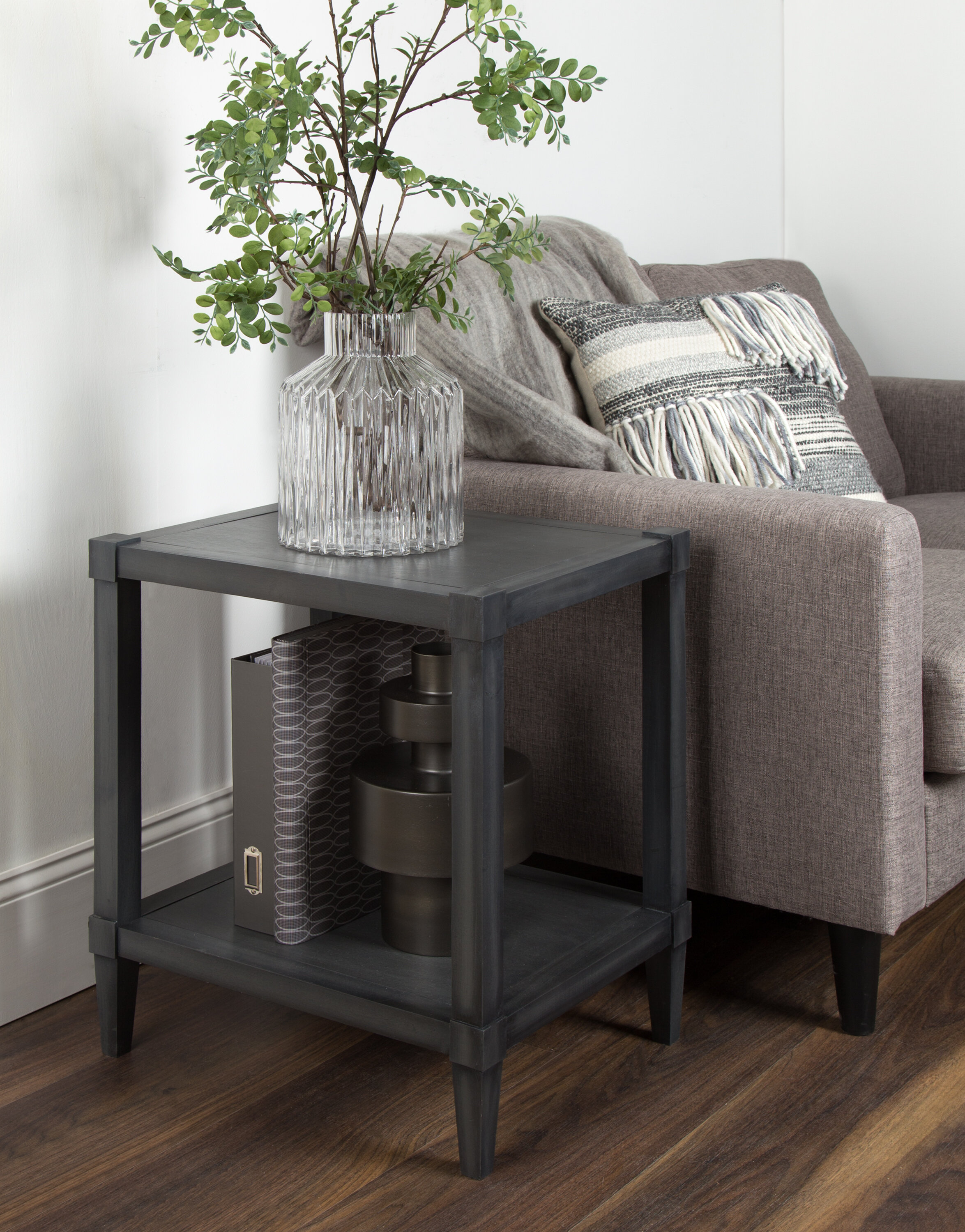 - Breakwater Bay Gretchen Wooden Side Accent End Table With Storage