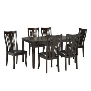 Hannum 7 Piece Dining Set by Alcott Hill