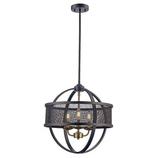 Wrought Studio Mattias 3-Light LED Globe Chandelier