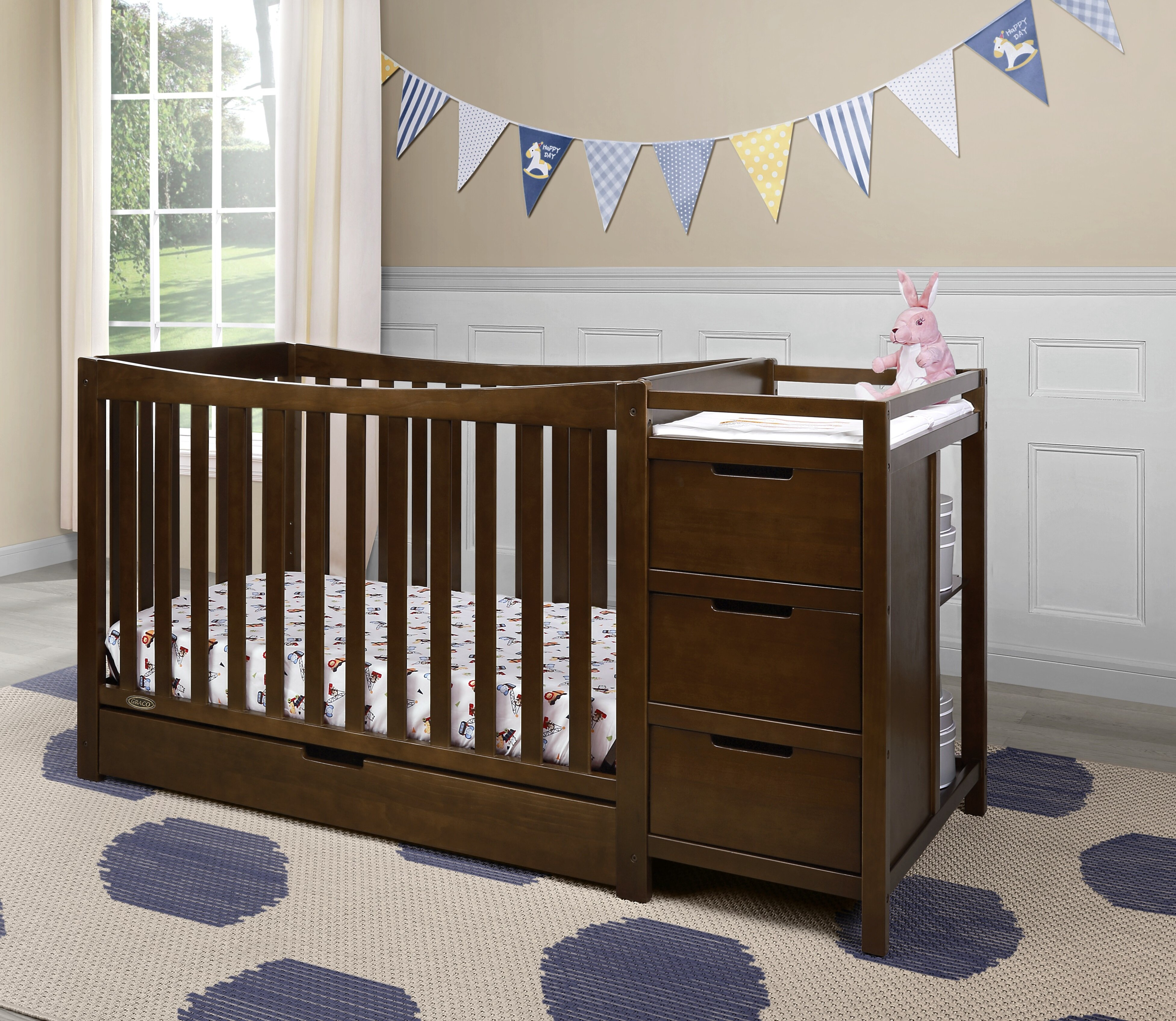 crib and tone convertible babyletto cribs shipping in white free hudson two espresso