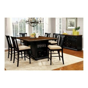Pitcock Country 7 Piece Pub Table Set by Charlton Home Great price