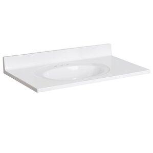 Cultured Marble 37  Single Bathroom Vanity TopVanity Tops You ll Love   Wayfair. D Vontz Natural Marble Vessel Single Sink Bathroom Vanity Top. Home Design Ideas