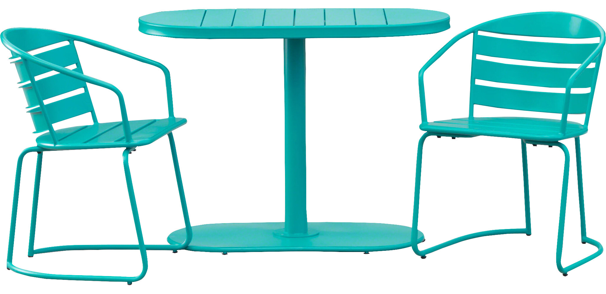 Hashtag Home Gunner Swell Outdoor Crackle 3 Piece Bistro Set