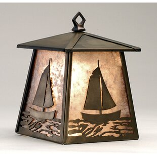 Great choice Sailboat 1-Light Outdoor Wall Lantern By Meyda Tiffany