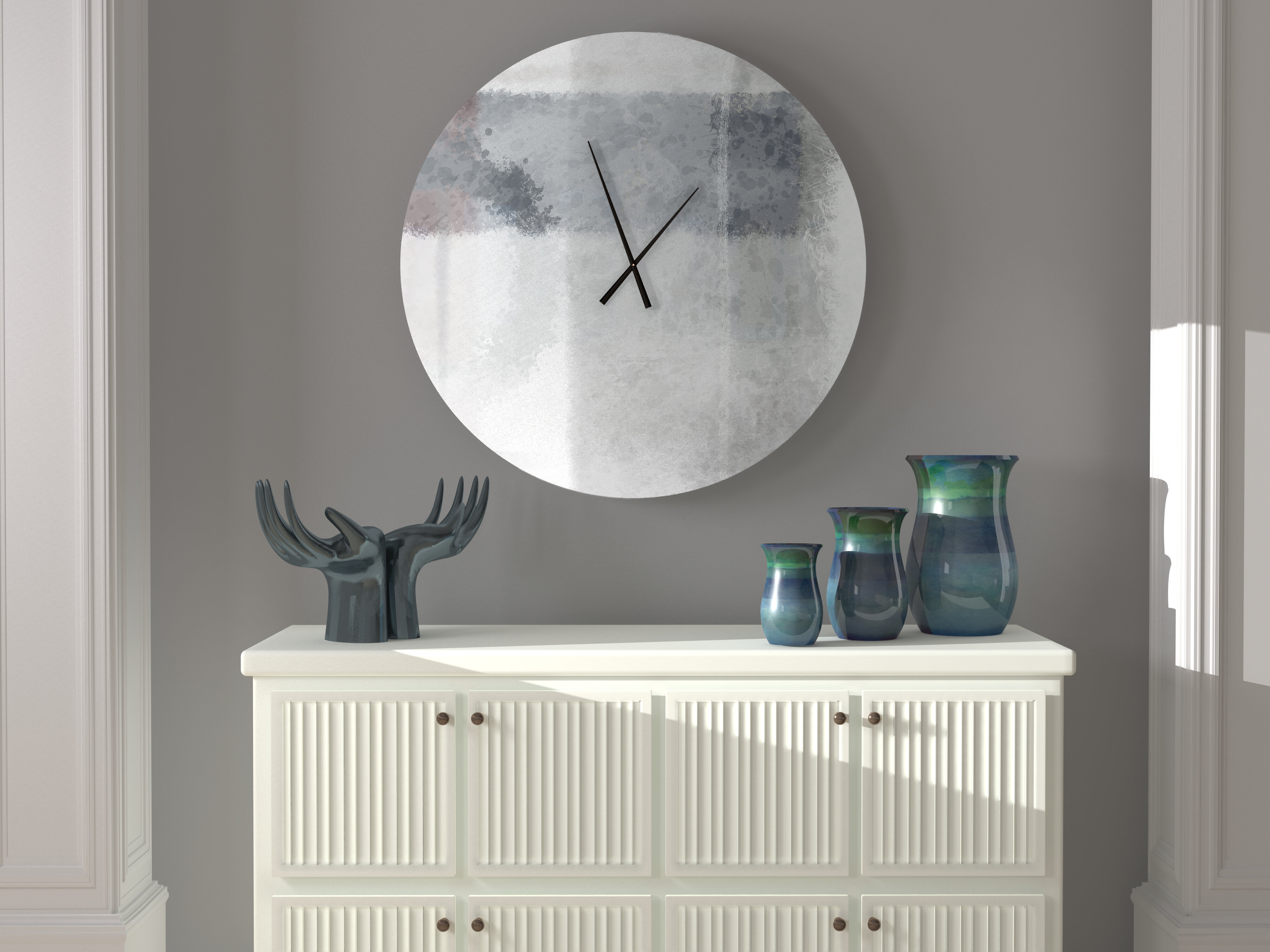 Latitude Run Obliging Rhapsodic Abstract Metal Wall Clock Wayfair