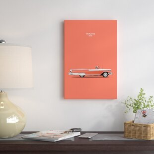 '1959 Ford Fairlane 500' Graphic Art Print on Canvas By East Urban Home