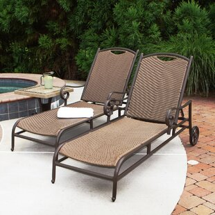 Tortuga Outdoor Stonewick Chaise Lounge (Set of 2)