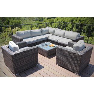 Defino 8 Piece Rattan Sectional Seating Group