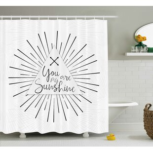 Tribal Boho Quotes Decor Single Shower Curtain