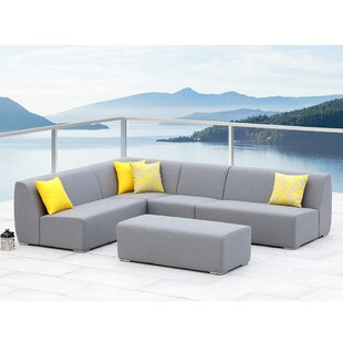 Ove Decors Bayview 5 Piece Sunbrella Sectional Set with Cushions