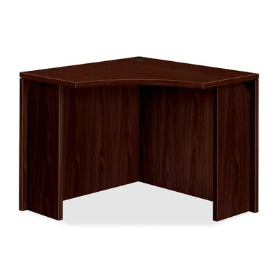 10500 Series Curved Corner Desk Shell HON Color Mahogany