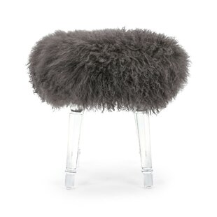 Urbano Fur Upholstered Stool by Mercer41