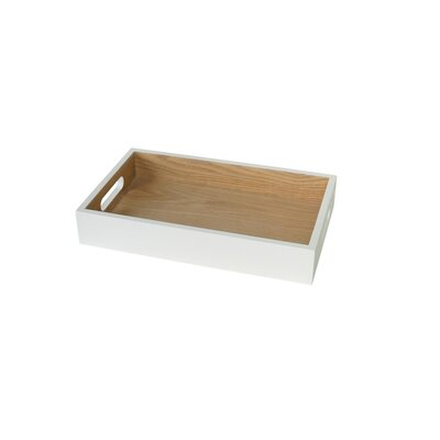Zipcode Design Lake Park Tray with Handles Size: 2 H x 17 W x 12 D