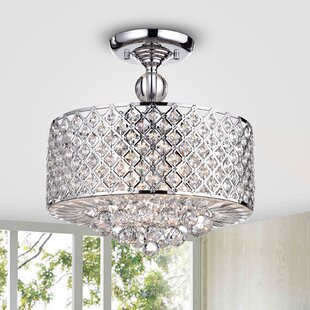 Adriana 4-Light Semi Flush Mount by Rosdorf Park