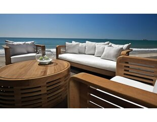 OASIQ Hamilton 4 Piece Teak Sunbrella Sofa Set with Cushions
