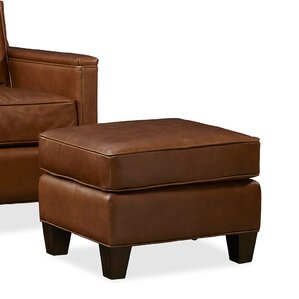 Alexander Leather Ottoman by Palatial Furniture