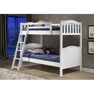 Great Price Judi Distressed Twin over Twin Bunk Bed ByHarriet Bee