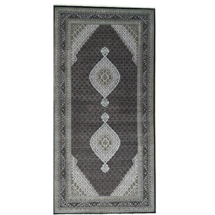 Shop For One-of-a-Kind Samons Mahi Gallery Hand-Knotted Black Area Rug By Astoria Grand