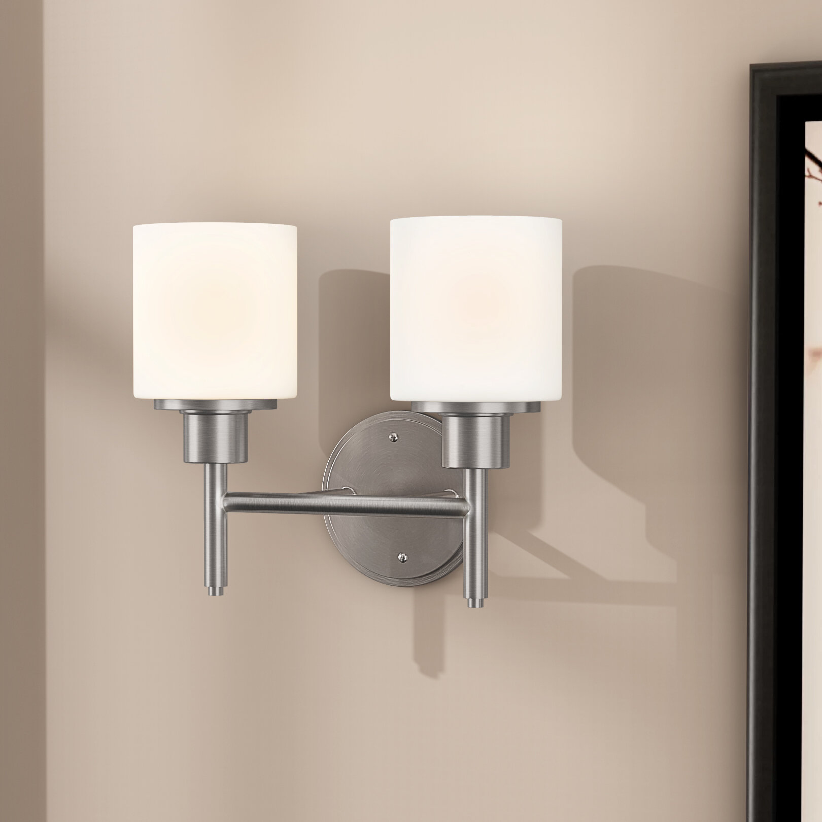 Zipcode design buckleys 2 light wall light reviews wayfair
