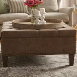 Sigler 35.5 Wide Faux Leather Tufted Square Cocktail Ottoman by Trent Austin Design®
