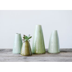 Deavers Terracotta 4 Piece Table Vase Set