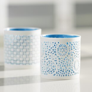 Ceramic Candle Holder (Set of 2)