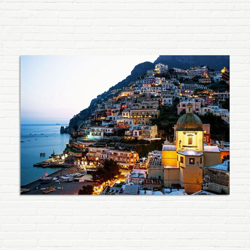 Ebern Designs Duskat Positano Photographic Print On Canvas Reviews Wayfair