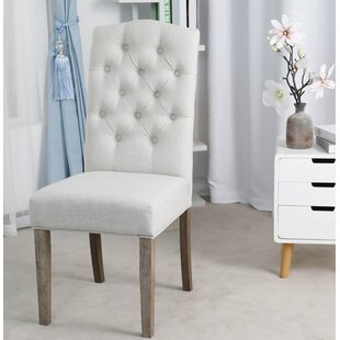 Zechariah French High Back Tufted Upholstered Dining Chair (Set of 2) (Set of 2) by Ophelia & Co.