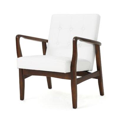 Mistana Celestia Armchair Upholstery: White Leather