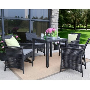 Ivy Bronx Ringgold Backyard 5 Piece Dining Set with Cushions
