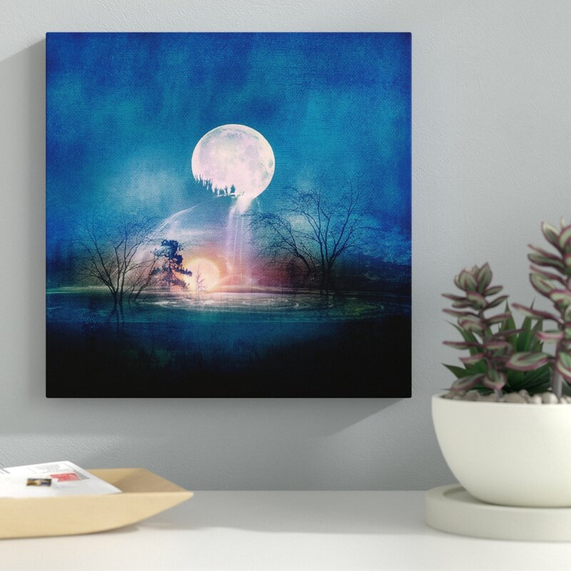 Latitude Run Moon Above Sun Below Painting Print On Wrapped Canvas