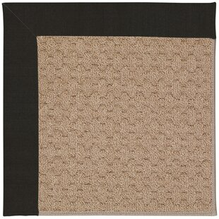 Lisle Machine Tufted Ebony/Brown Indoor/Outdoor Area Rug