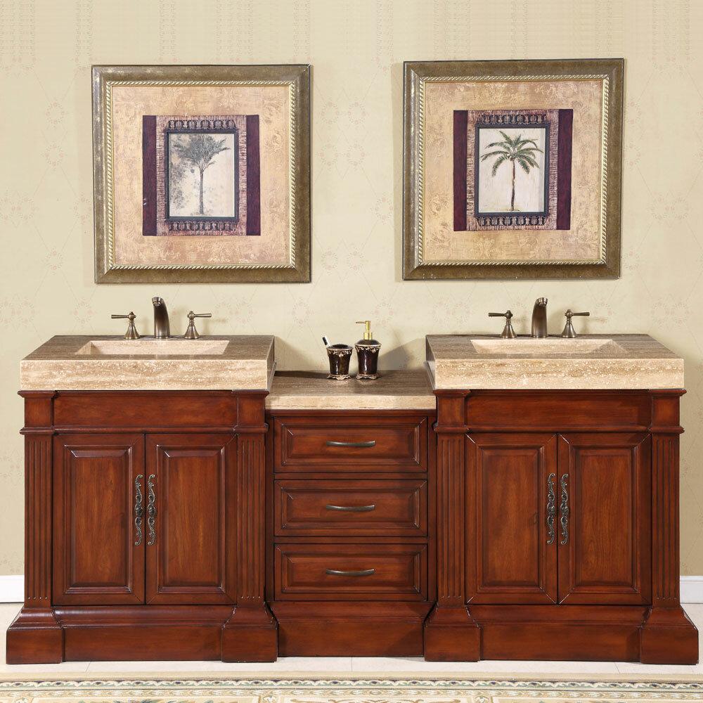 Silkroad Exclusive Stanton Double Bathroom Vanity Set Reviews - Bathroom vanities coral springs fl