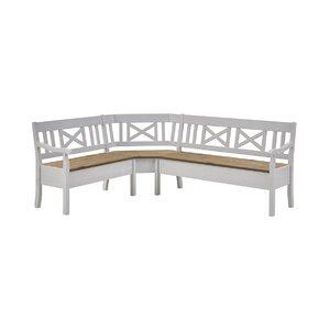 5-Sitzer Küchenbank Fjord mit Stauraum aus Holz..