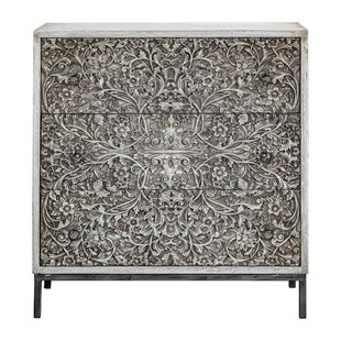 Emmitt Carved 3 Drawer Accent Chest By Bungalow Rose