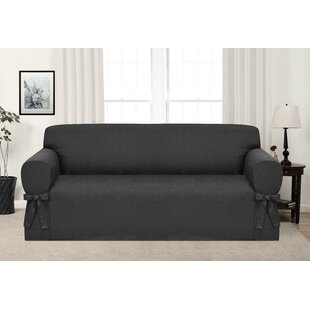 charcoal gray couch cover wayfair rh wayfair com gray cotton sofa slipcover gray duck sofa slipcover
