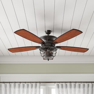 52 Quebec 5 Blade Outdoor Ceiling Fan, Light Kit Included