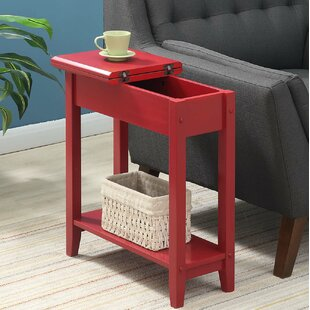Beau Antique Red End Table | Wayfair