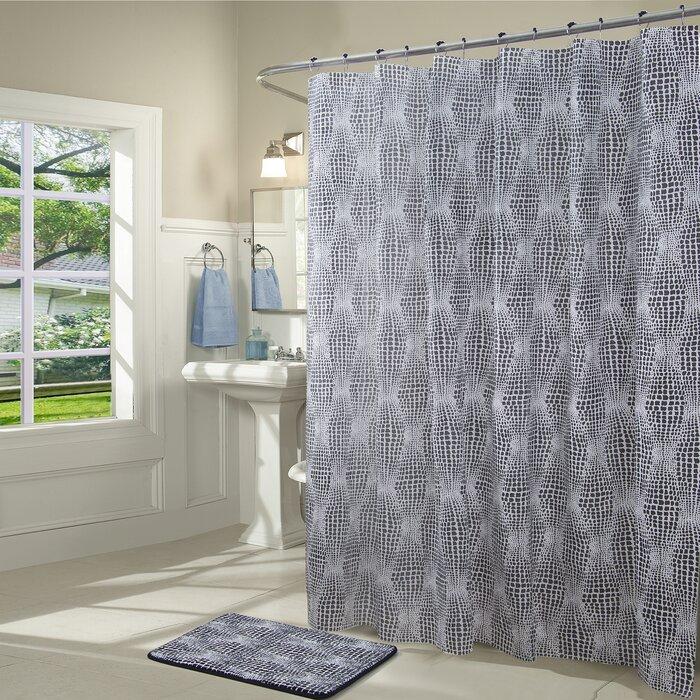 Philip Odorless Vinyl 14 Piece Shower Curtain Set + Hooks