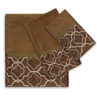 Medallion 100% Cotton Bath Towel Set (Set of 6)