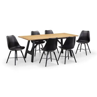 Hockley Dining Set With 6 Chairs By Julian Bowen