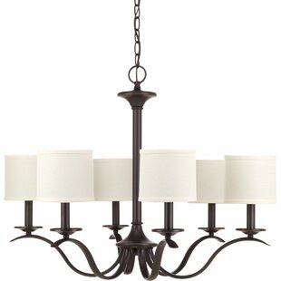 Three Posts Greenwell 6-Light Shaded Chandelier