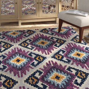 Dietz Purple/Yellow Area Rug ByBungalow Rose